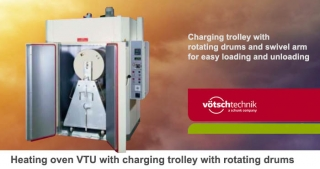 Heating oven VTU with rotating drums