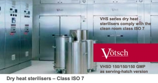 Dry heat sterilizers VHSF, ISO 7