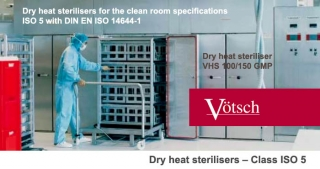 Dry heat sterilizers class VHSF, ISO 5