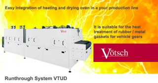 Runthrough system VTUD, heating, drying ovens