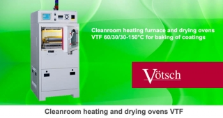 Cleanroom heating and drying oven VTF 60-30-30-150