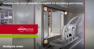 Analysis oven for simulating paint drying1, Vötsch