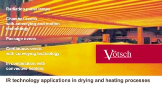IR technology applications in drying and heating processes