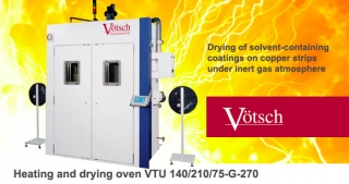 Heating drying oven VTU controlled atmosphere