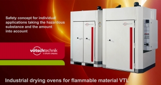 Industrial drying ovens for flammable material, VTL, Vötsch Technik
