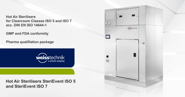 Hot Air Sterilisers SteriEvent ISO 5 and ISO 7