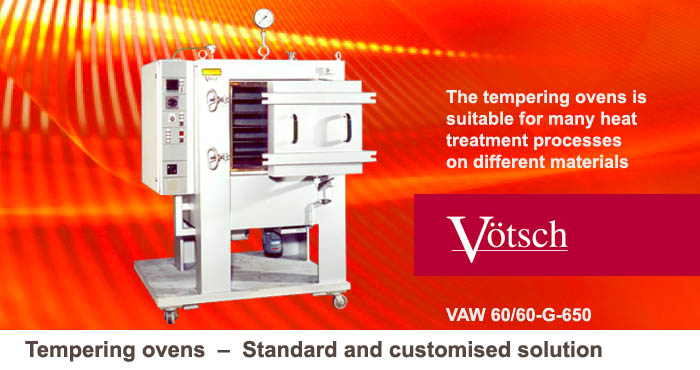 Tempering ovens, standard, customised solution VAW