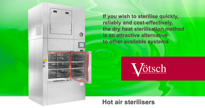 Hot air sterilisers Votsch