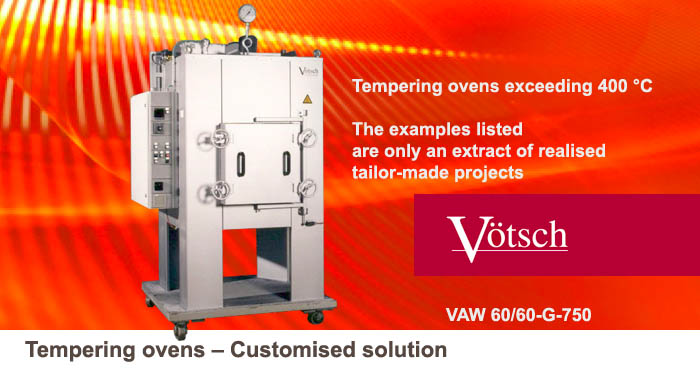 Tempering ovens customised solution VAW